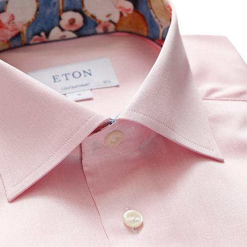 Pink Twill Shirt - Tennis Print Details