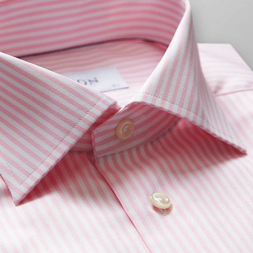 Pink Striped Twill Shirt