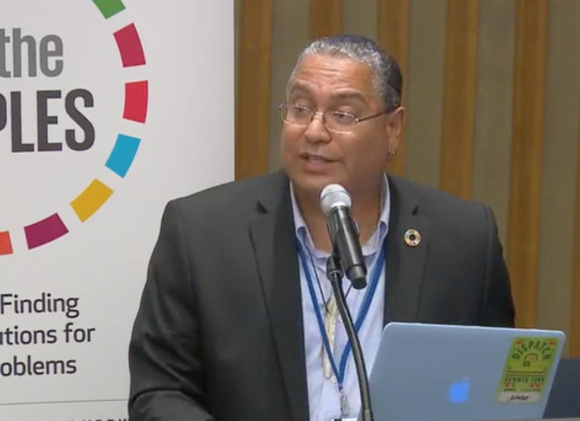 Roberto Borrero at 67th UN DPI Conference, August 2018