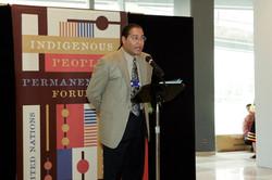 Roberto Borrero, Master of Ceremonies, UN Indigenous Peoples Day, 2005