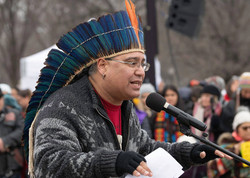Mukaro Borrero Speaking at the Indigenous Peoples March & Rally, 2019