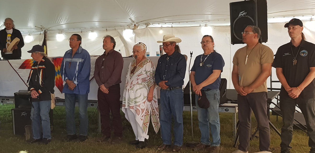 "Roberto Múkaro Borrero among the leaders being honored at a ""Blessing for the Chiefs"" during the Int"