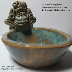 Taíno offering bowl. R. Múkaro Borrero, 2014