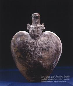 Heart shaped vessel. Dominican Republic