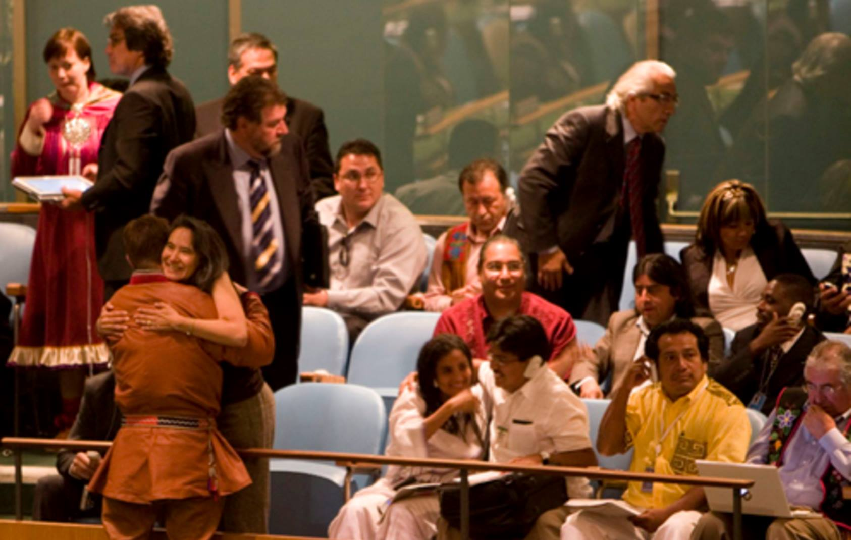 Roberto Borrero at UNDRIP Adoption Sept. 2007