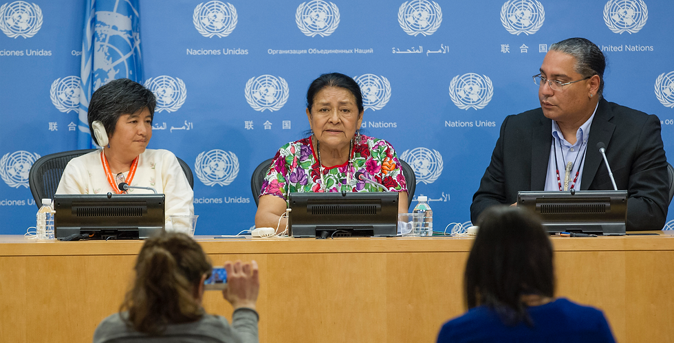 Roberto Borrero at UN Press Conference,