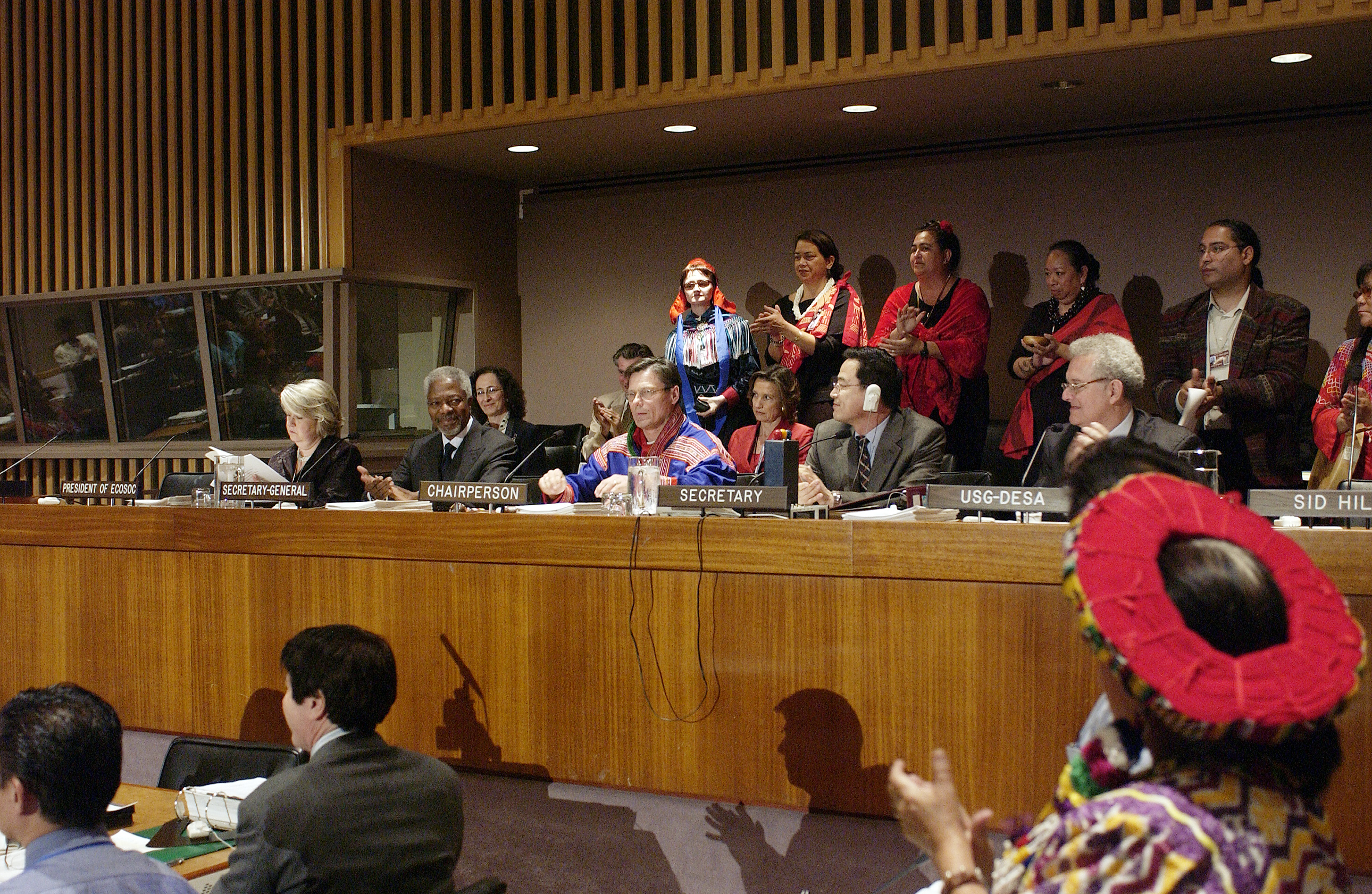 UNPFII 3rd Session, 2004. Photo credit: Eskinder Debebe