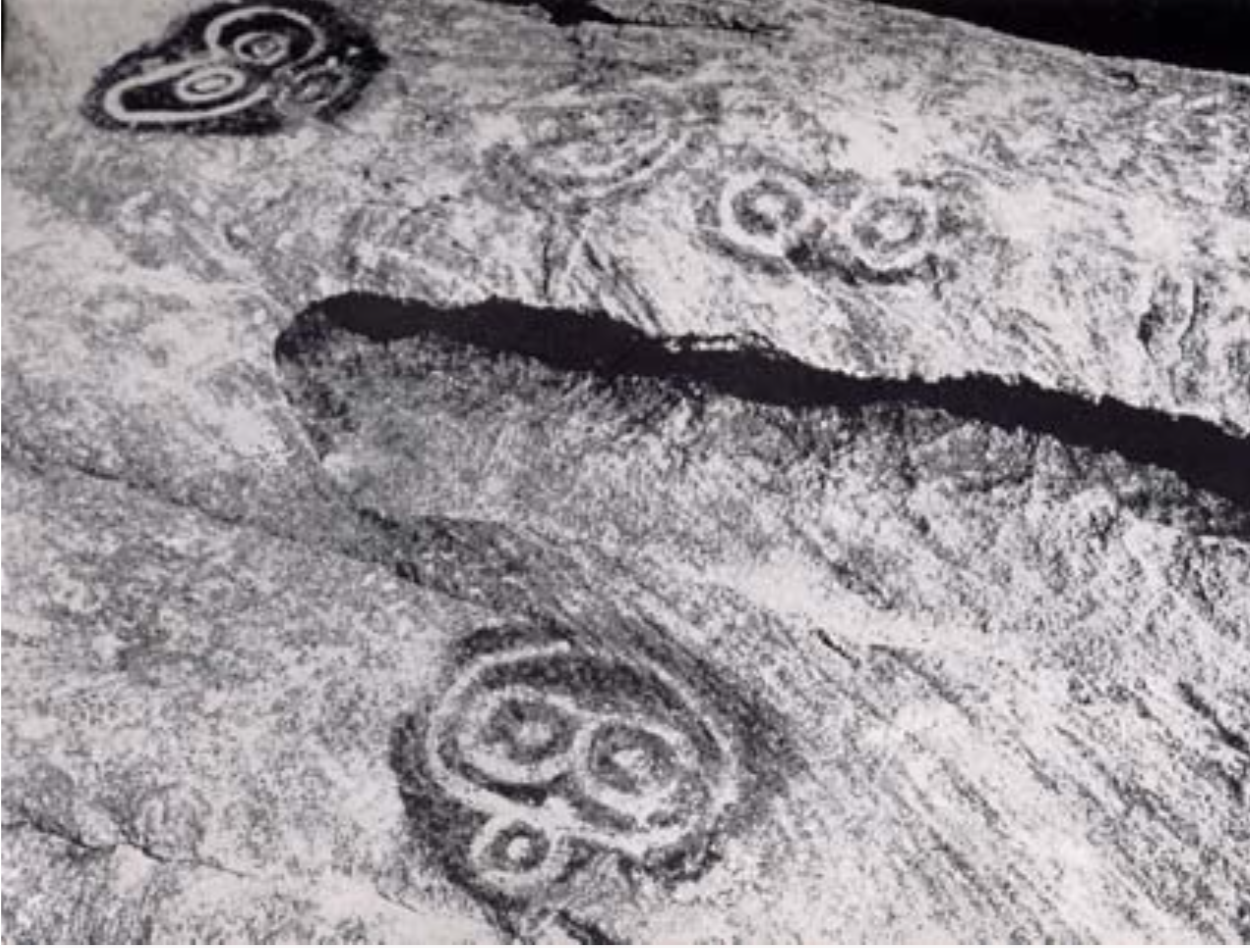 Petroglyphs on Congo Cay. (Taken from Sleight 1962)