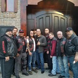 Members of the Redrum Motorcycle Club and Mukaro Borrero, 2017