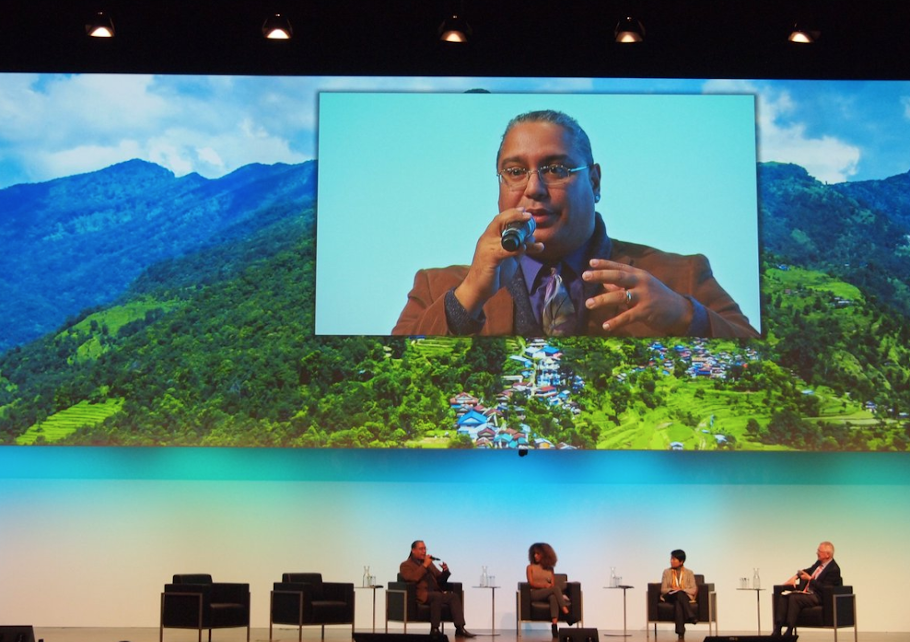 R. Borrero at Global Landscapes Forum in Bonn, Germany, 2017