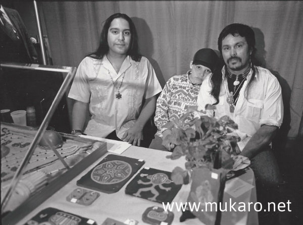 Taíno art pioneers, Mukaro Borrero and Melanio Gonzalez, 1995