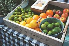 Caixote de frutas frescas
