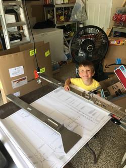 Rudder spars completed