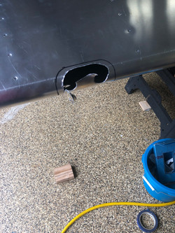 Initial Hole Drilled