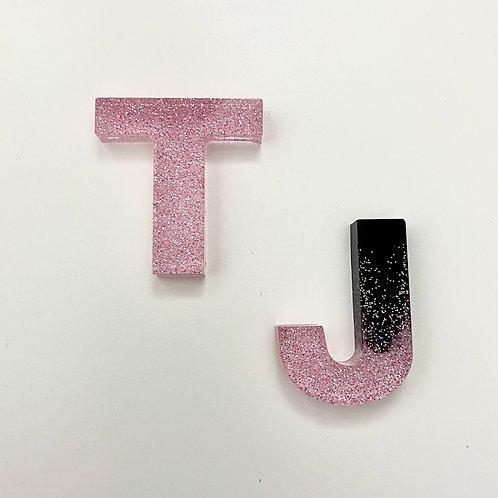Glitter Initials Keyring