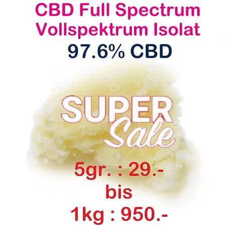 CBD Vollspektrum Isolat | min. 97.6% CBD ab 5gr. bis 1kg