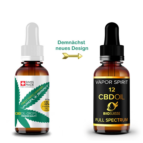 Organic CBD oil + 12% 10ml THC FREE