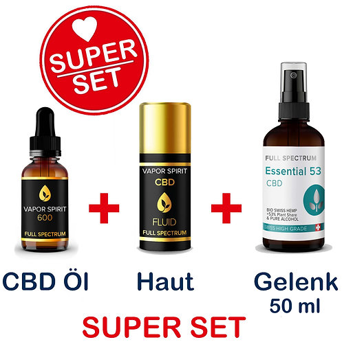 CBD Öl, +6% (6.6%) 10ml | CBD Spray 50ml | CBD Fluid 15ml