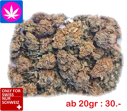CBD flower mix: 20gr: 30 .-, 100gr: 110 .-, up to 200gr.