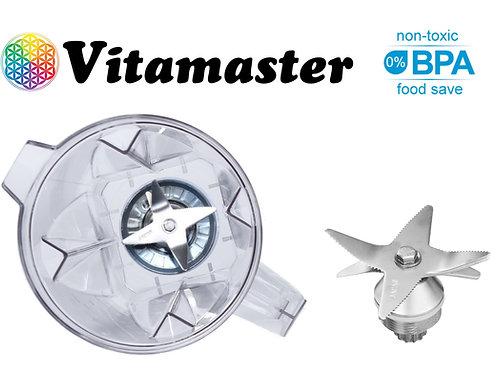 2x2 LITER BEHÄLTER BPA FREI MIT KOMPLETTEM SCHNEIDEWERK (6Klingen) PRO UND BASIC