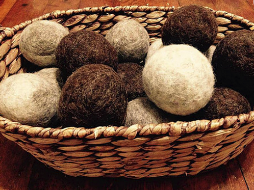 Set of 4 Wool Dryer Balls