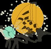 Schets van de vlinder