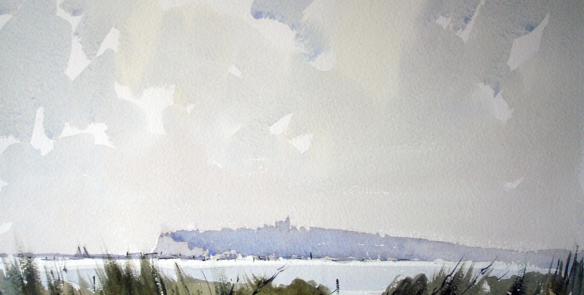 Penarth from Cardiff Bay.