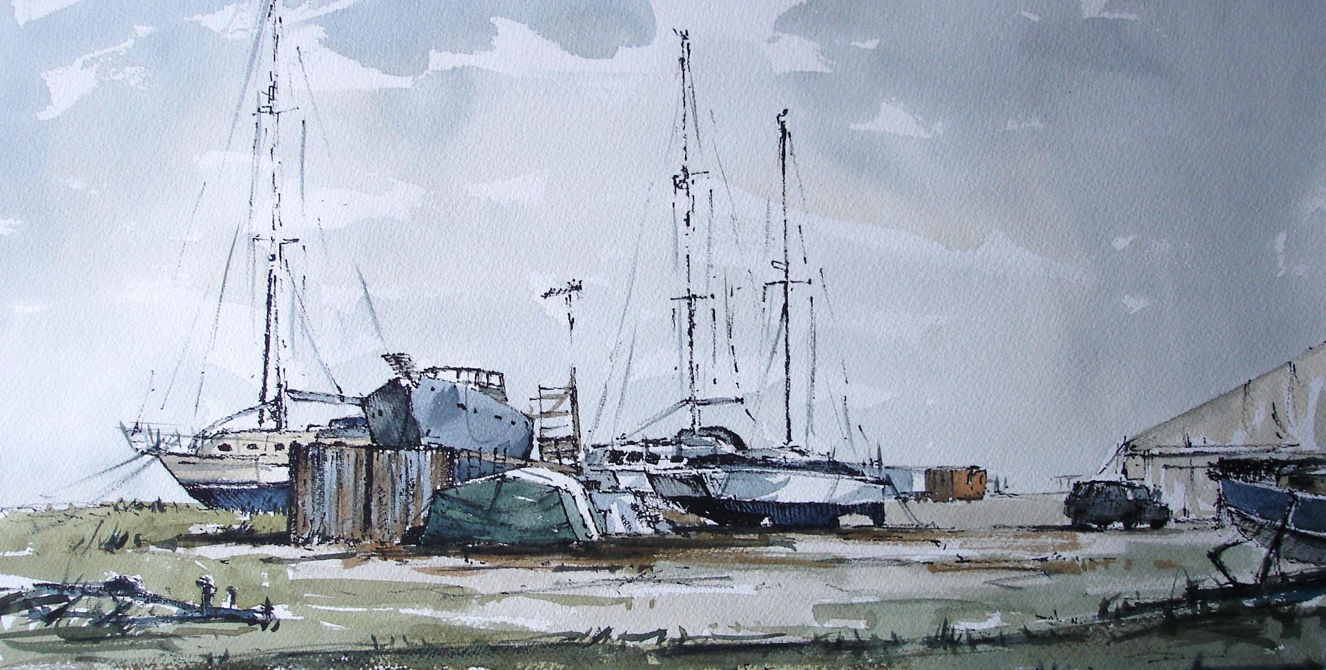 Boat yard.