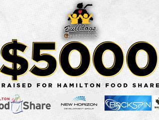 BULLDOGS' FOUNDATION CONTINUES SUPPORT OF HAMILTON FOOD SHARE