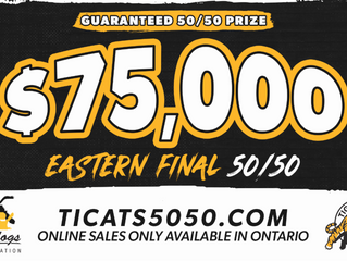 The Bulldogs Foundation is proud to be supporting the Ticats Eastern Final 50-50!