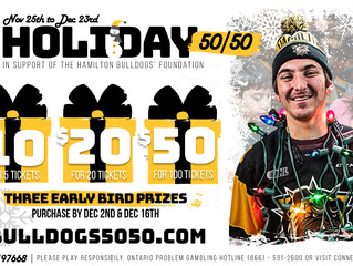 Hamilton Bulldogs' Foundation Holiday 50/50