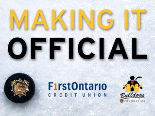 FirstOntario Credit Union and the Hamilton Bulldogs extend their partnership and long-term commitmen