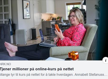 NRK skriver om Annabell som har suksess med nettkurs