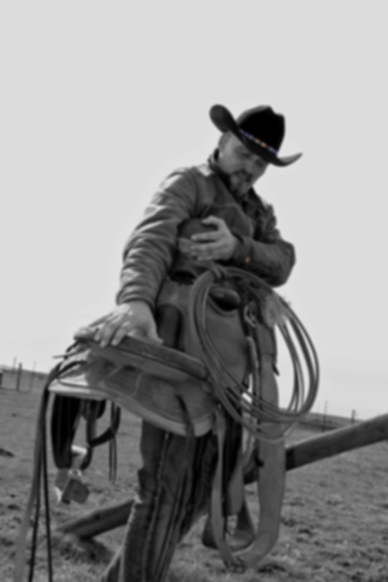 Rob Georg with his buckaroo saddle