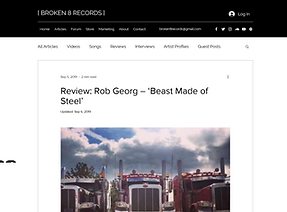 Review_ Rob Georg_Beast Made of Steel_ww