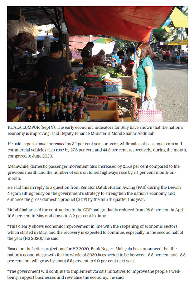 Nation's economy improving — MoF-01