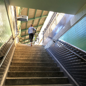 stairs to the train