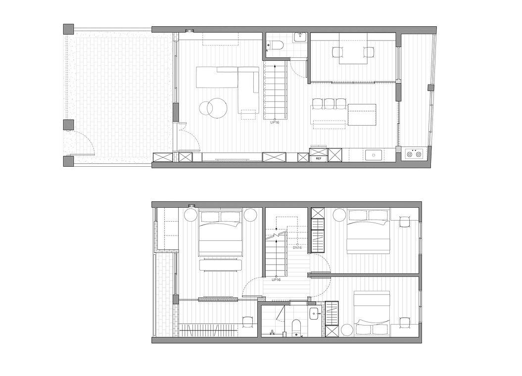 有隅空間規劃所,老屋翻新的平面圖