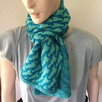 Knit cotton and mohair scarf