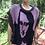 Thumbnail: One size cotton poncho type pullover with Mona Lisa smile
