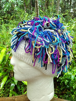 Bohemian chic knotted fringed hat beanie