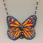 Beaded monarch butterfly necklace