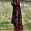 Thumbnail: Fine knit cotton with roses scarf