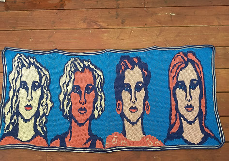 Large wall hanging, statement piece for you wall, knit panels