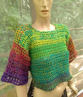 Crochet top in beautiful colors, small/medium