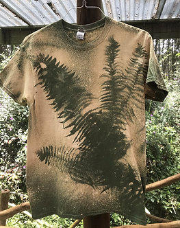 Mens T cotton with ferns or other leaf