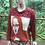 Thumbnail: S/M cotton sweater with Mona Lisa