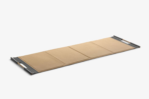 Luxury leather exercise fitness mat pent