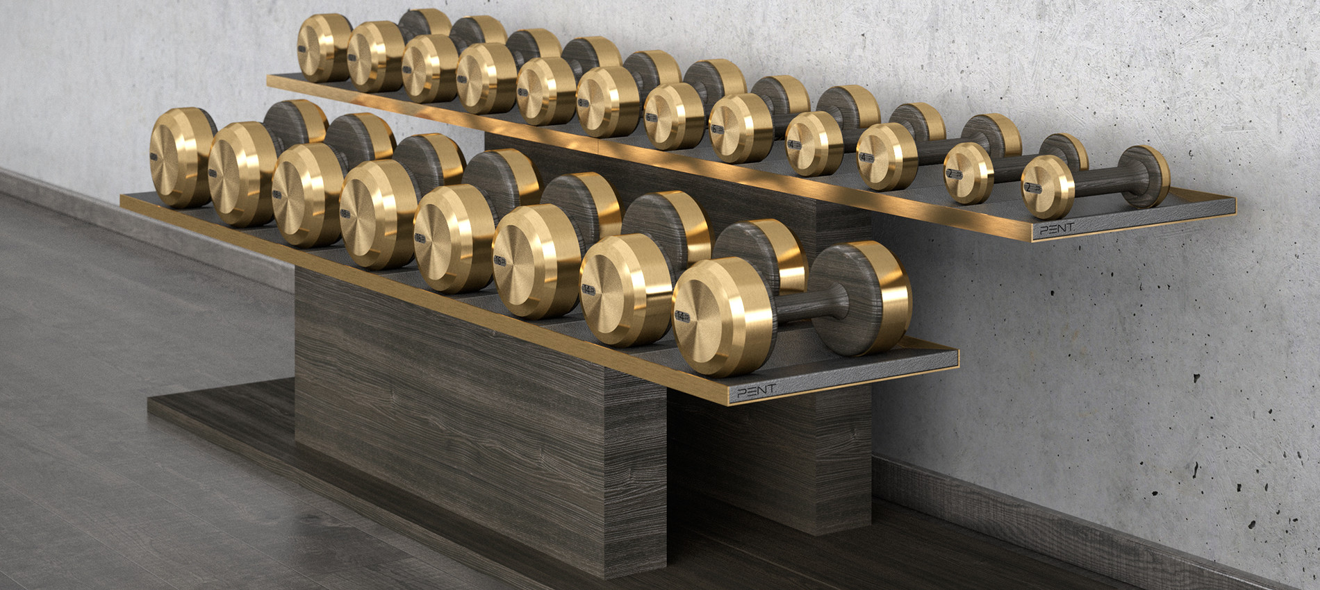 COLMIA luxury dumbbells set with bronze
