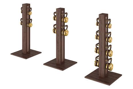 PENT LOVA Kettlebells Vertical Rack Gold